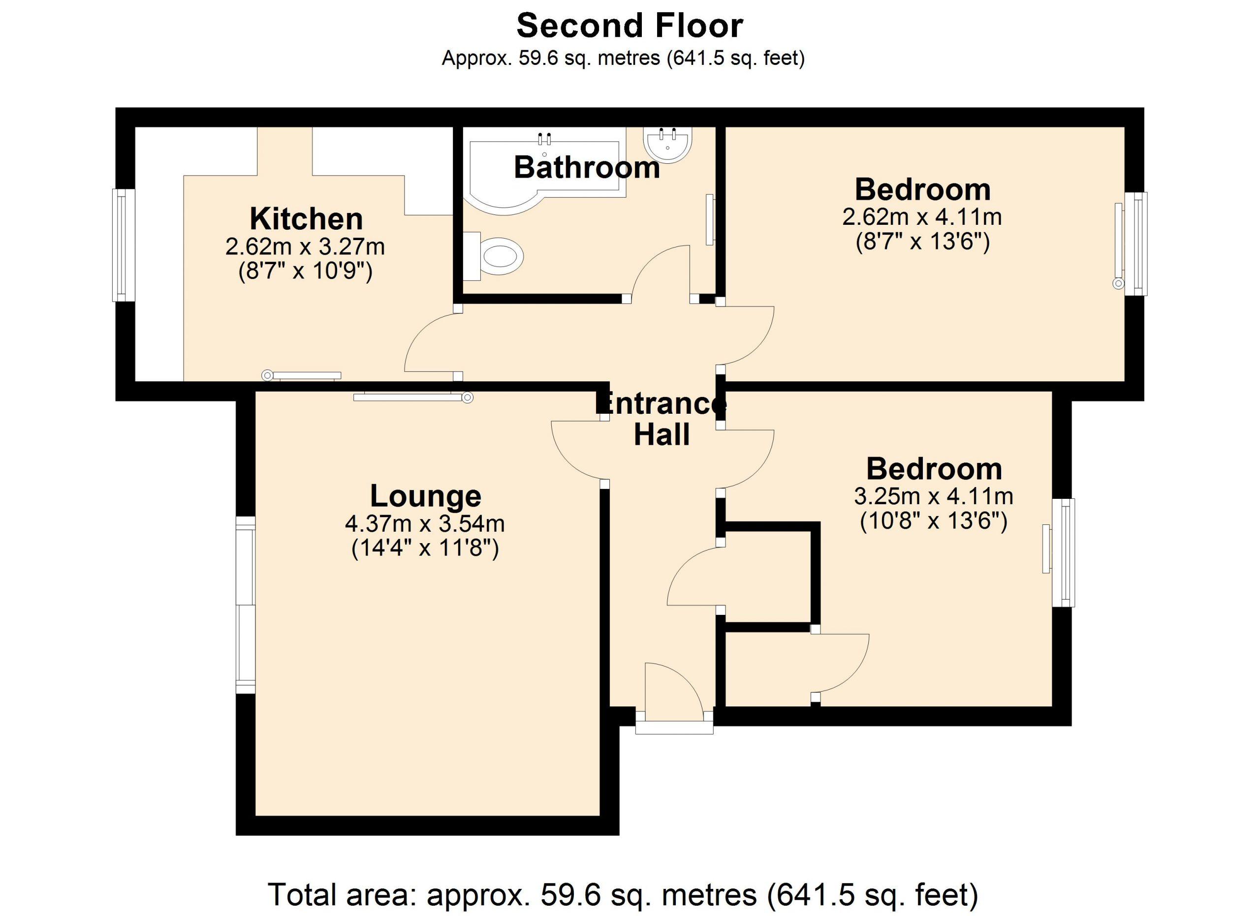 Flat 4 Portland Court Floor Plan